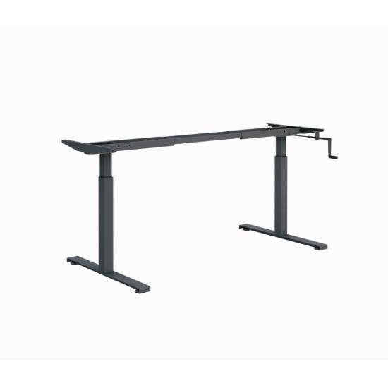 ErgoMan manuálisan emelhető asztal, antracit lábszerkezettel, 140 cm, juhar asztallap