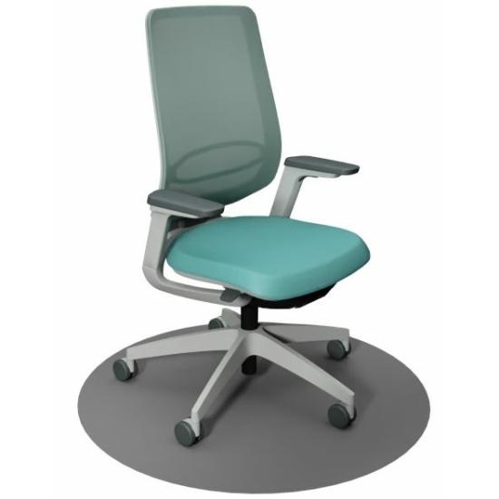 Se:Flex home office forgószék szürke váz, kék ülőlappal