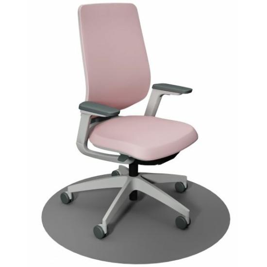 Se:Flex home office forgószék szürke váz, pink ülőlappal