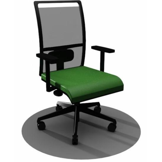 Zoe home office forgószék, zöld ülőlappal