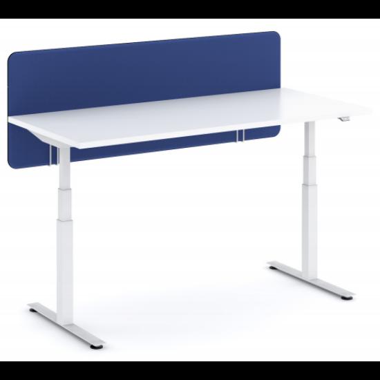 Íróasztalra szerelhető paraván 140 cm széles világoskék szín