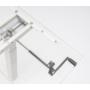 Kép 4/6 - ErgoMan manuálisan emelhető asztal, alumínium színű lábszerkezettel, 140 cm, fehér asztallap