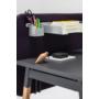 Kép 3/4 - OGI W (tömörfa A-lábas, merevítő gerendás) 140 x 70   kőris láb / antracit asztallap / antracit váz