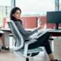 Kép 2/6 - Se:Flex home office forgószék szürke váz, kék ülőlappal