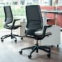 Kép 3/6 - Se:Flex home office forgószék szürke váz, beige ülőlappal