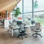Kép 4/6 - Se:Flex home office forgószék szürke váz, kék ülőlappal