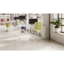 Kép 4/5 - Light Bianco home office forgószék, fehér váz, bordó ülőlappal