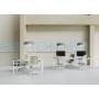 Kép 5/5 - Light Bianco home office forgószék, fehér váz, bordó ülőlappal