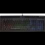 Kép 1/3 - Corsair Gaming K55 RGB, Fekete, RGB LED, Rubber Dome Gamer
