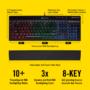 Kép 3/3 - Corsair Gaming K55 RGB, Fekete, RGB LED, Rubber Dome Gamer